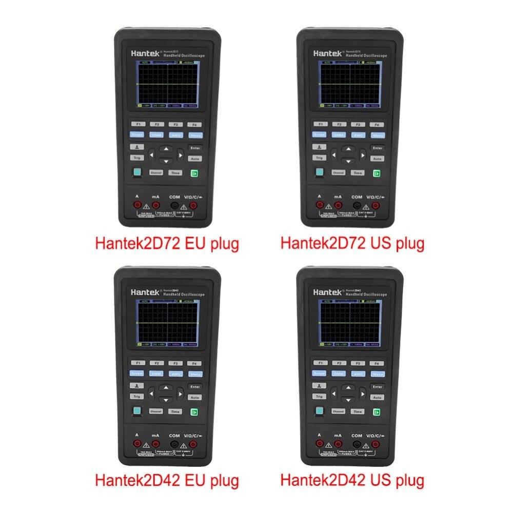 Hantek2D72/2D42 70 mhz/40 mhz 2CH Numérique Oscilloscope Multimètre 25 m Signal Générateur AC100-240V De Poche Universel Multimètre