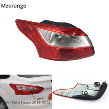 MIZIAUTO 1 PCS Rear Tail Light for Ford Focus 2012-2014 Car Styling Brake Lamp Stop Light Red Outer Lamp Tail Light Assembly high quality chrome tail light cover for ford focus 08 11 hatchback free shipping