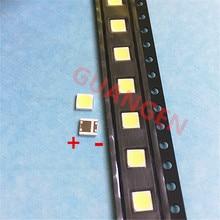 500 יח\חבילה יכול להיות להחליף LG 3535 2W 6V מגניב לבן עבור LCD טלוויזיה תיקון led טלוויזיה תאורה אחורית רצועת אורות עם אור דיודה SMD