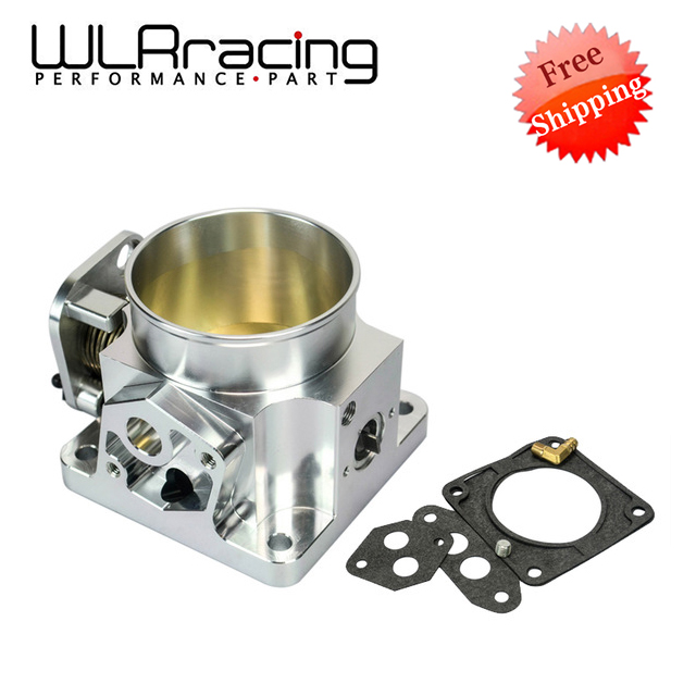 WLR RACING FREE SHIPPING 75MM BILLET CNC THROTTLE BODY FOR 86 93 FORD MUSTANG GT COBRA LX 5.0 WLR6958S