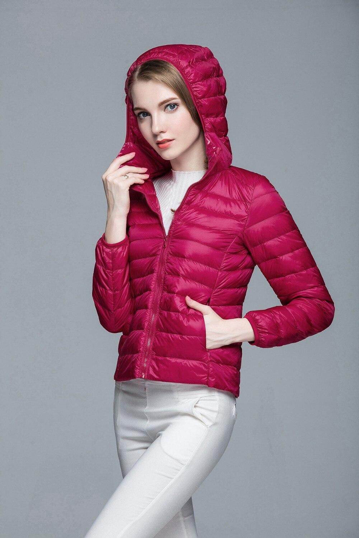 Складываемая женская зимняя куртка с длинным рукавом, однотонное женское теплое пуховое пальто, Новое Женское зимнее пальто с капюшоном Casaco Feminino