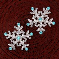 Bling Bling wholesale 12pcs x 25mm Crystal SnowFlake ,flat back Buttons For Scrapbooking Craft Hair Ornament Phone DIY Accessori