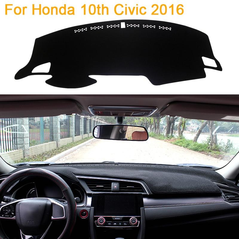 car styling sombra protectora dashboard mat cojn pad alfombra interior para honda dcima civic