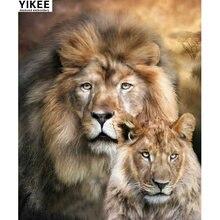 Yikee k29 animal Алмазная вышивка со львом квадратный 5d животное