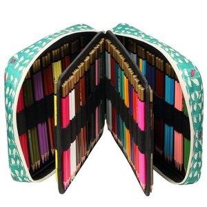 Image 5 - Kawaii 150 слотов футляр для карандашей 4 слоя на молнии сумка с принтом большой емкости для хранения пенал школьные принадлежности