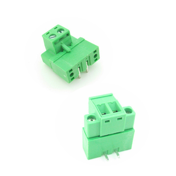 5.08mm Pitch  2 Pins PCB  Screw Terminal Blocks with Flange, Plug + Right Angle Pin Header, 120 units a pack