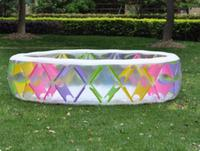 INTEX 56494 infant color pinwheel family pool inflatable pool children's wading pool BB large pool of high quality 229*229*56CM