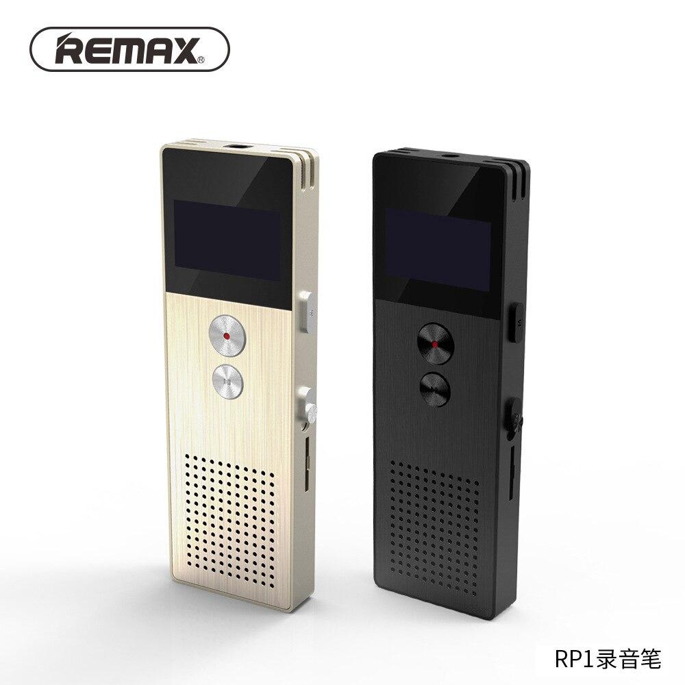 REMAX professionnel enregistreur Audio entreprise Portable numérique entreprise enregistreur vocal Support enregistrement téléphonique lecteur MP3