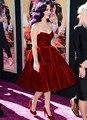 2017 Katy Perry Celebrity Dresses Bata de Pelota Novia Longitud de La Rodilla Satén Corto Backless Vestidos de la Alfombra Roja
