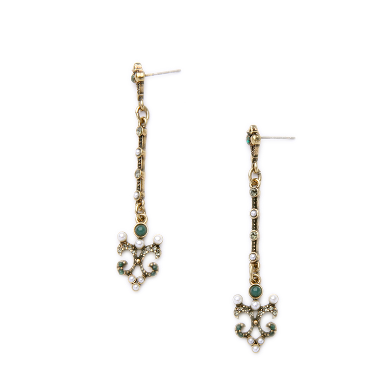 Luxury Vintage Antique Long Earrings