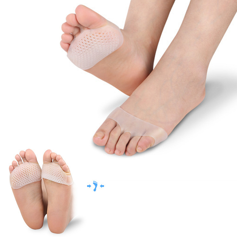 1Pair Silicone Toe Separator Pain Relief Cushion Soft Gel Insoles Forefoot Pads Invisible Shoes Slip Resistant Insole Foot Care