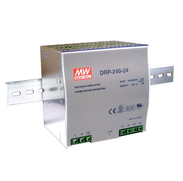 цена на Original MEAN WELL 240W Single Output Din Rail Switching Power Supply With PFC Function DRP-240