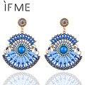 Pendents Elegant Bohemian Drop Earrings Resin Beaded Tear Lady Heart Vintage Earrings For Women Ladies brincos Wholesale