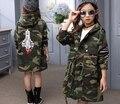 2017 Nova primavera Crianças casaco Meninas casaco criança roupa da menina outwear outono e inverno jaqueta casaco grosso de adolescente 4-15 Y crianças