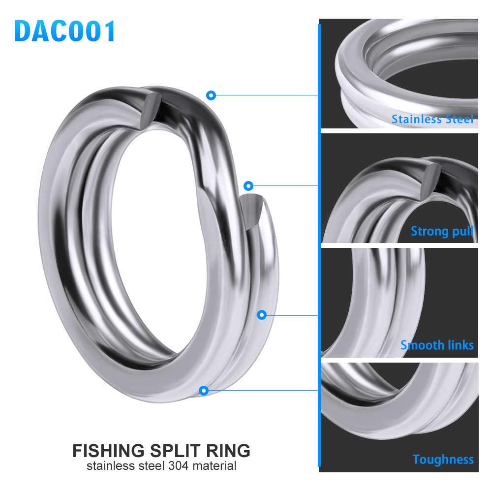 30 個釣りスプリットリングクランクハード餌シルバーステンレス鋼 3 #-8 # ダブルループスプリットオープン鯉ツールアクセサリー