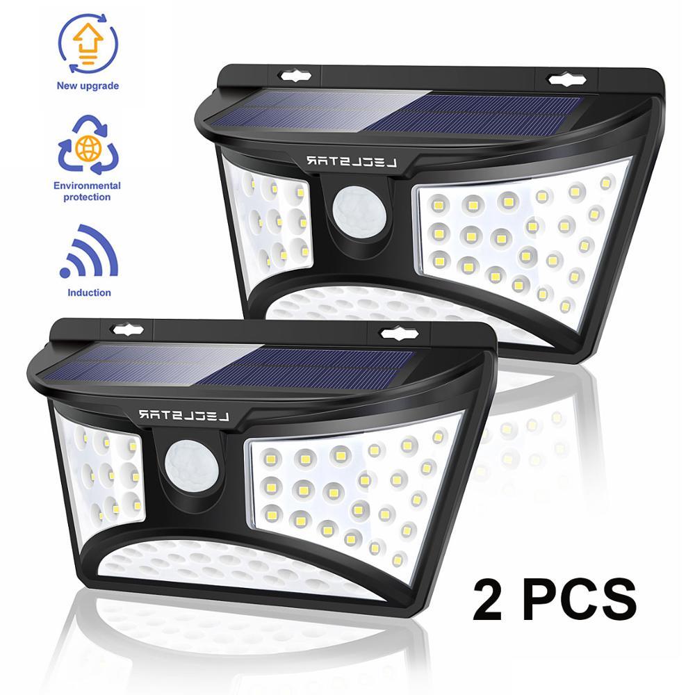 2 PCS Solar Garden Light IP65 Waterproof Wall Lamp Solar Powered Motion Sensor Light Outdoors Super