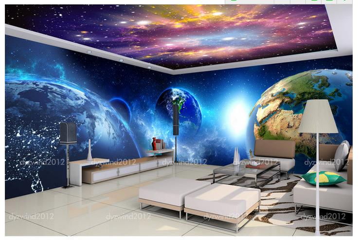 3d wallpaper tv background wallpaper the living room sofa for Cool mural wallpaper
