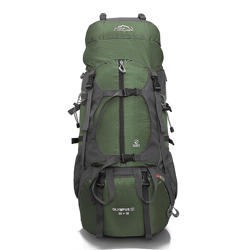 Hiking Camping Backpack Outdoor Bags Large Capacity Waterproof Climbing Bag Men Women Sports Travel Backpack Rucksack 65L 457A 60l large waterproof travel bags rucksack nylon outdoor camping hiking bicycle sports backpacks bag men women climbing backpack