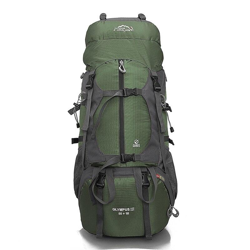 Randonnée Camping Sac À Dos sacs d'extérieur Grande Capacité Imperméable À L'eau sac d'escalade homme femme Sport sac à dos de voyage 65L 457A