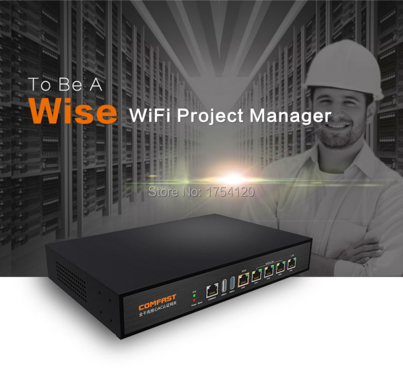 COMFAST Gateway Controller Project MT7621 Manager Wifi Full-Gigabit 4--1000mbps AC CF-AC100