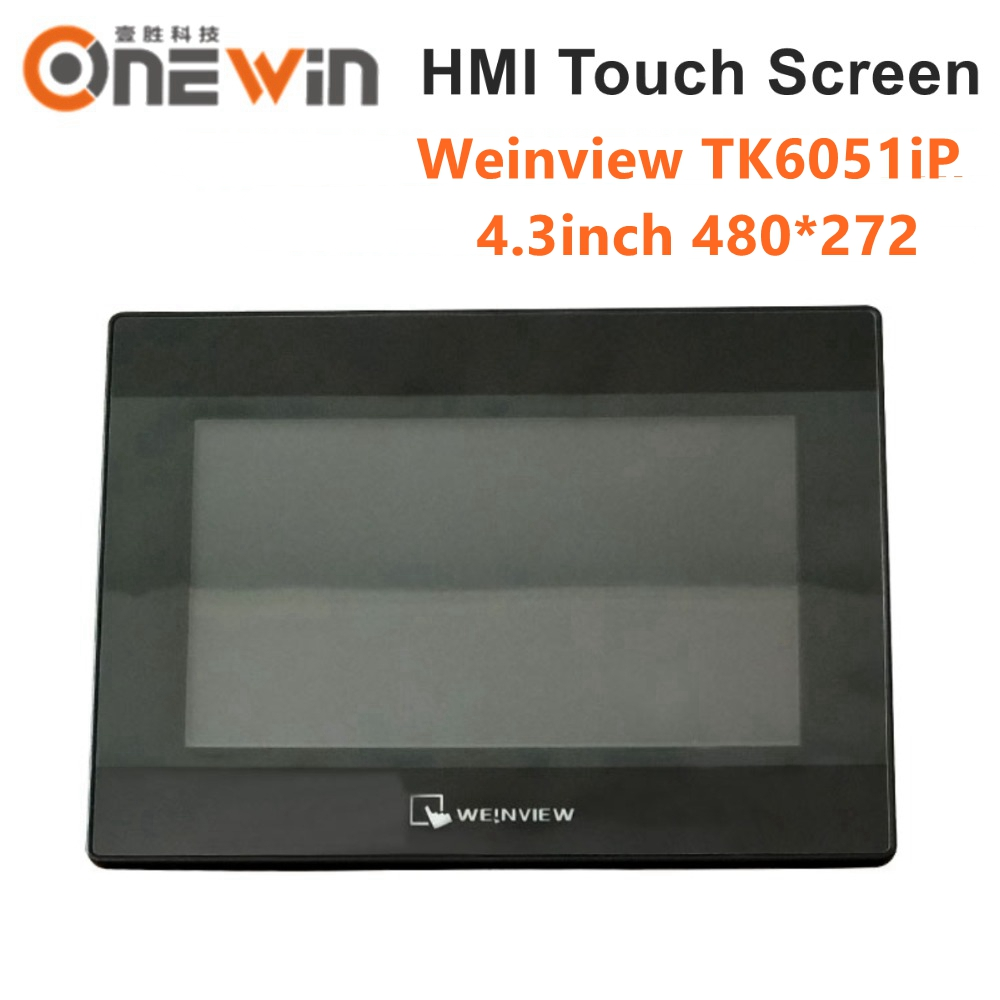 Weinview/weintek tk6051ip hmi tela de toque 4.3 polegada 480*272 substituir tk6050ip nova interface da máquina humana