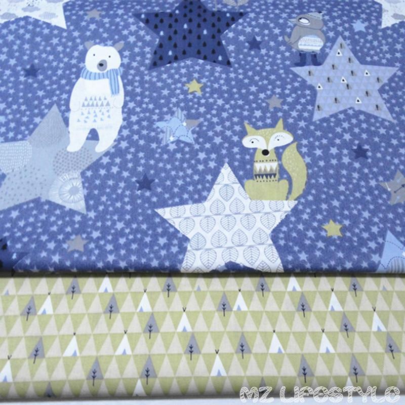 160 cm de ancho impresa cartoon100% tela de sarga de algodón tela de algodón de algodón acolchado para DIY costura ropa de cama de algodón artículo