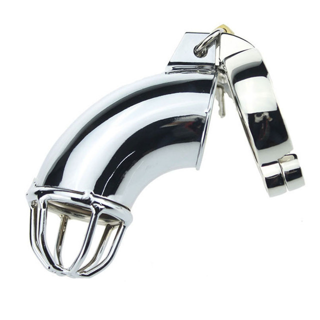 Metal Cock Cage with 5 Size Penis Ring Chastity Device Male Sex Product, Chastity Belt Virginity Lock Penis Cage Sex Toy for Man