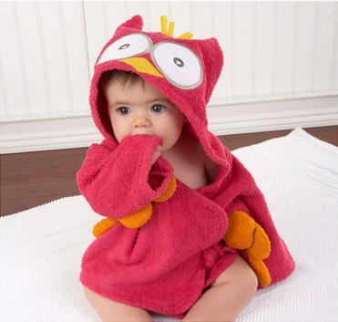 Bebé Terry Albornoz Albornoces Para Niños niños Niño Niña Con Capucha de Invierno Bebé Tiburón Batas de Baño Toalla de Algodón Pijama Vestido 504d