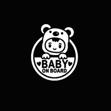 SLIVERYSEA Baby on Board Car Sticker Reflective Waterproof Car Accessories Window Wall Notebook Laptop Stickers Styling