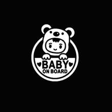 SLIVERYSEA Baby on Board Car Sticker Reflective Waterproof Accessories Window Wall Notebook Laptop Stickers Styling