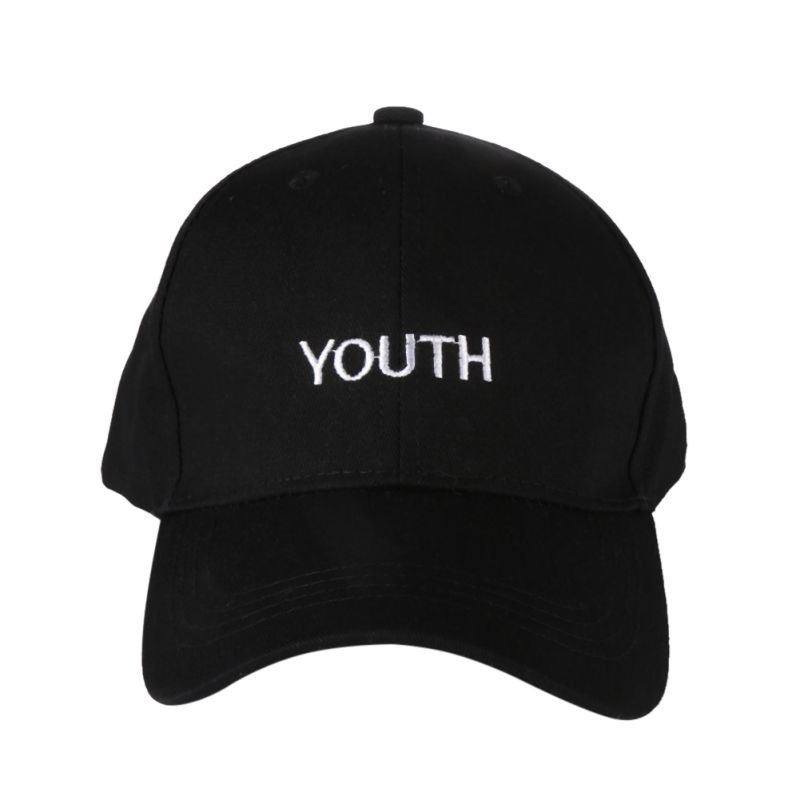 2017 Sport Caps Women Men Running Caps Youth Letter Embroidery Hats Black White Hat