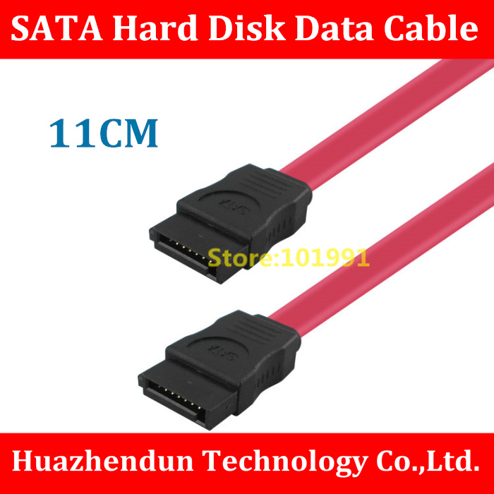 Free Shipping New Cable 11CM SATA Cable  SATA Hard Disk Data Cable for  Computer Desktop Connector  Cable  Support SATA I II III
