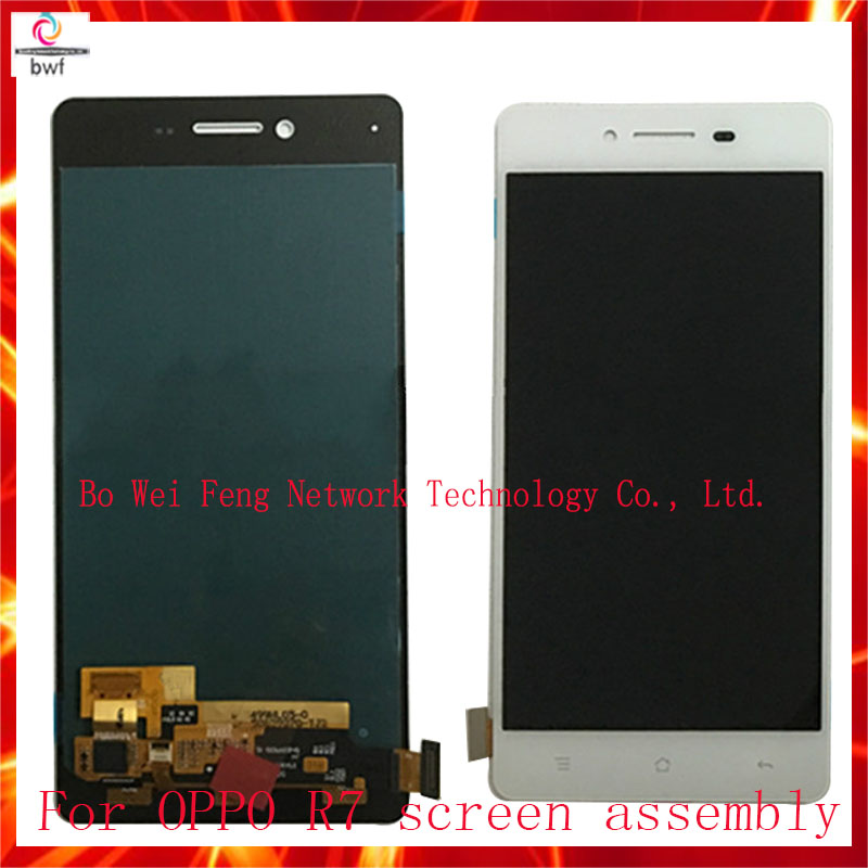 High Quality White Color LCD Replacement  For OPPO R7 R7S LCD Display and Touch Screen Digitizer Assembly+Tool Free Shipping