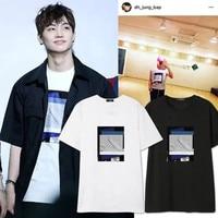 Nuevo Kpop got7 BaP Dae Hyun JB mismo alrededor de la camisa suelta de manga corta redondo Masajeadores de cuello Camisetas pareja hombres Y las mujeres t-shirt