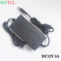 12V DC Power Adapter Supply 100 240V AC To DC 12 Volt 5 Amp Power Supply