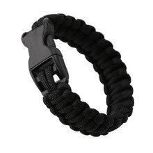 Для мужчин Для женщин военные аварийного выживания браслет веревочки спасательным кругом для спорта на открытом воздухе Принадлежности для самообороны аварийные инструменты