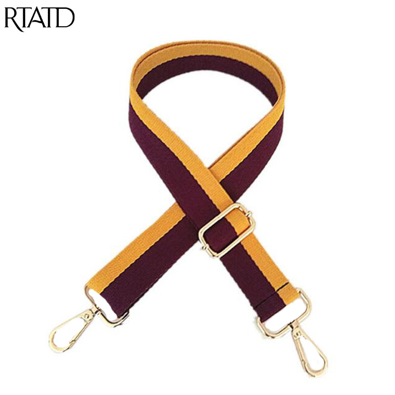 New Patchwork Design Women Bag Strap Fashion Lady Shoulder Strap Chic Handle For Bags Belts Q0226