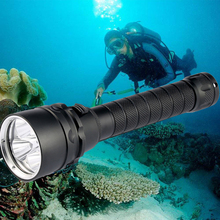 35000lums Diving Flashlight Torch 5*T6 Scuba Dive Torch UnderWater 220m Depth Waterproof Led Flashlights Lantern light by 18650 1000lm cree xml t6 led waterproof underwater dive diving flashlight dive torch light 50 meter lamp for diving lantern by 18650