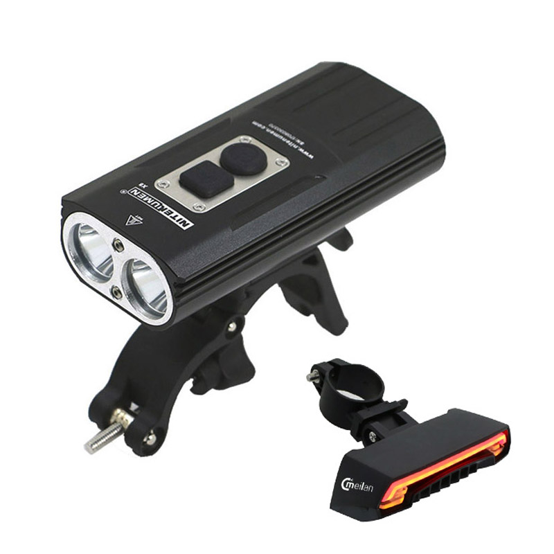 Bicycle Light Front Flashlight XM-L2 torch High Power Cycling LED & USB Recharge meilan X5 Wireless Bike light Rear laser lights meilan x1 smart headlights bike light set meilan x5 lantern bicycle laser running lights turn signal safety wireless tail lamp
