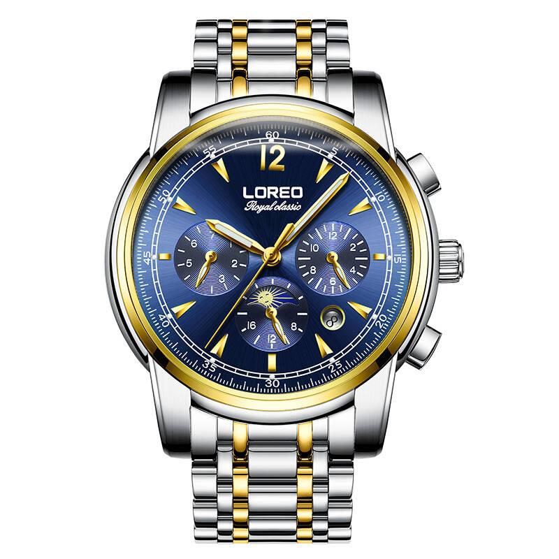 LOREO 6105 Germany watches men luxury brand automatic multifunction genuine original hollow luminous waterproof fashion цена в Москве и Питере
