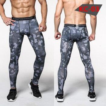 New Camouflage Pants Men Compression Pant Elastic Sweatpants Lifting Bodybuilding Skin Tights Trousers Brand Clothing Pantalon 2