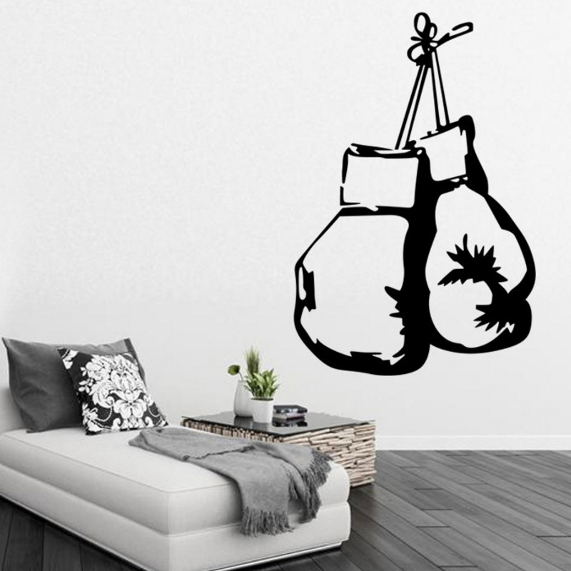 Good Boxing Gloves Fighting Sports Wall Stickers Home Decor Living Wall Mural  Sticker Decal Wallpaper Boy Bedroom Home Design Ideas