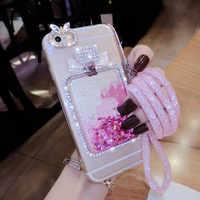 XIGDNUO di Lusso di Scintillio Del Diamante della cassa del telefono per iphone X XS XR 6 6 S 7 8 Più bling Quicksand Trasparente shell per iphone XS MAX