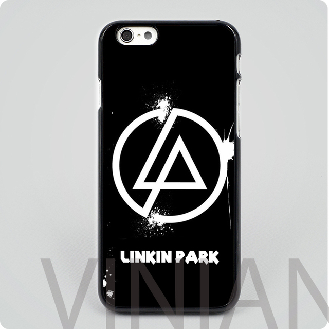 2c14ee99495d Linkin Park Logo black hard skin plastic mobile phone cases cover housing  for iphone 4 4s 5 5s 5c 6 6 plus free shipping