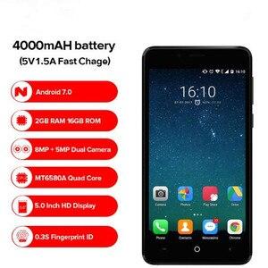 Image 2 - Leagoo Kiicaa Power 4000 мАч мобильный телефон 5,0 HD MT6580A четырехъядерный Android 7,0 2 Гб RAM 16 Гб ROM 8.0MP двойная задняя камера
