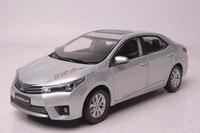 1:18 литье под давлением модель для Toyota Corolla 2014 серебро редкая Игрушечная машина из сплава миниатюрная коллекция подарки