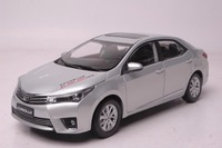 1:18 Diecast Model for Toyota Corolla 2014 Silver Rare Alloy Toy Car Miniature Collection Gifts