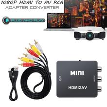 HDMI to RCA AV CVBS Component Converter Scaler 1080P Adapter Cable Box for Monito L/R Video HDMI2AV HD Support NTSC PAL auto scaler hdmi to hdmi cvbs hdmi rca converter support hdcp protocol free shipping
