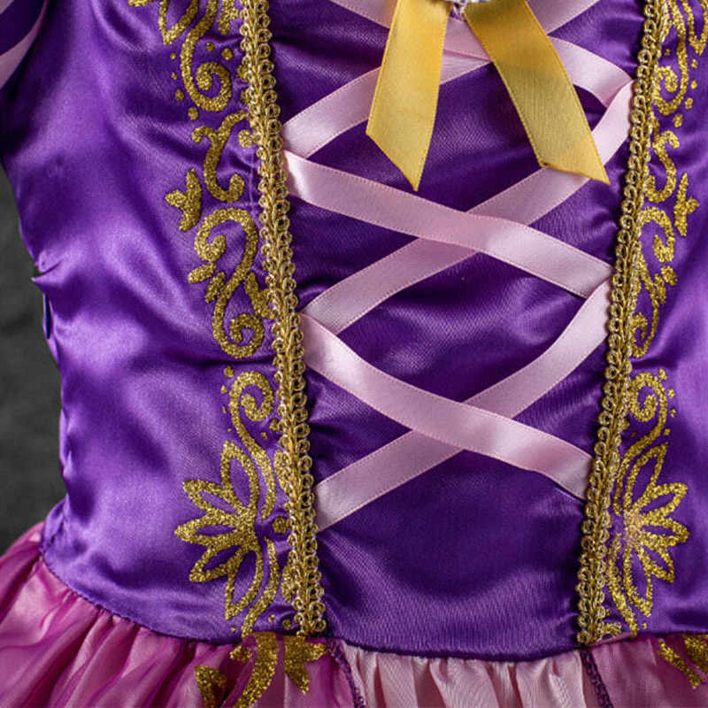 Новые платья Золушки для маленьких девочек; Детские платья Белоснежки; платья принцессы Рапунцель, Авроры; Детский костюм на Хэллоуин