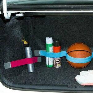 Image 3 - Araba gövde depolama aygıtı cırt cırt sabit sapanlar düz renk sihirli çıkartmalar araba aksesuarı 5cm x 20cm/40cm/60cm/80cm